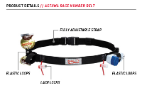 Asthma Race Number Belt